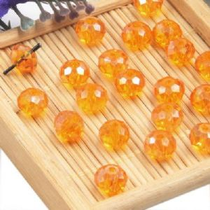 Beads, Selenial Crystal, Crystal, Orange AB, Faceted Discs, 8mm x 8mm x 6mm, 10 Beads, [ZZC111]